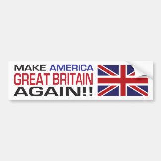 Autocollant De Voiture Faites l'Amérique Grande-Bretagne encore !