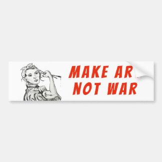 Autocollant De Voiture Faites l'autocollant de guerre d'art pas