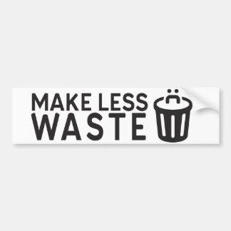 Autocollant De Voiture Faites moins de déchets