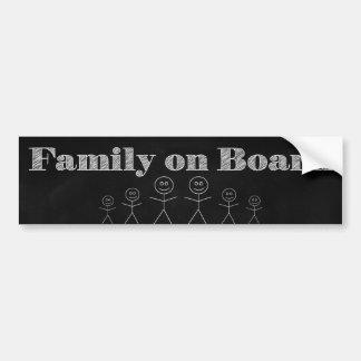 Autocollant De Voiture Famille à bord