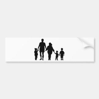 Autocollant De Voiture Famille tenant des mains