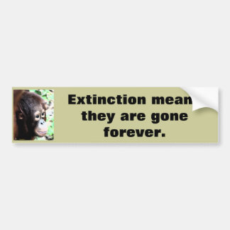 Autocollant De Voiture Faune de délivrance de l'extinction
