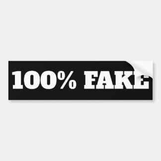 Autocollant De Voiture Faux de 100% - noir d'autocollant