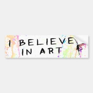 Autocollant De Voiture Fée d'art : Je crois à l'aquarelle d'art
