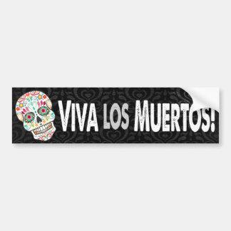 """Autocollant De Voiture Feliz Muertos - """"visibilité directe Muertos de"""