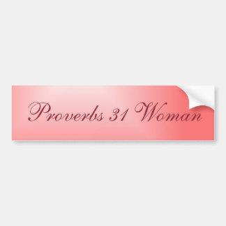 Autocollant De Voiture Femme assez rose des proverbes 31 de gradient