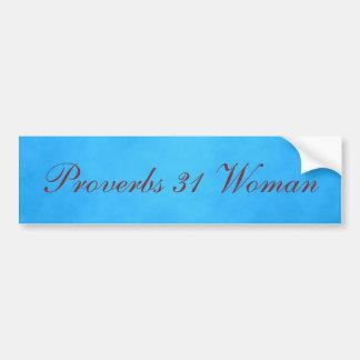 Autocollant De Voiture Femme bleue et rose des proverbes 31