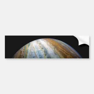 Autocollant De Voiture Fermez-vous de la planète Jupiter du flyby de Juno