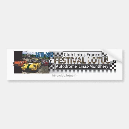 Autocollant De Voiture Festival Lotus CLF - Montlhéry 2012