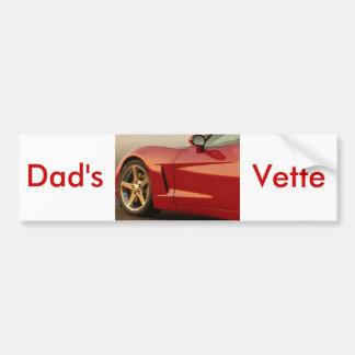 Autocollant De Voiture Fête des pères Corvette