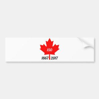 Autocollant De Voiture Feuille d'érable du Canada 150 en 2017