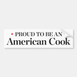 Autocollant De Voiture Fier d'être un cuisinier américain