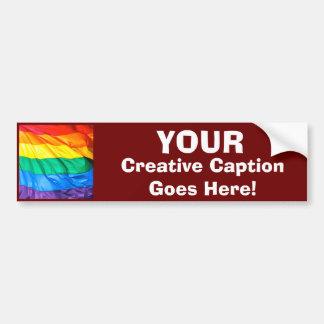 Autocollant De Voiture Fierté solide - plan rapproché de drapeau de gay