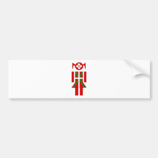 Autocollant De Voiture Fille Basque drapeau Euskadi Bayonne