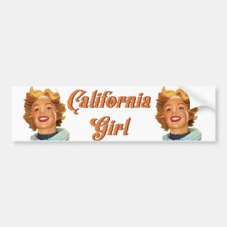 Autocollant De Voiture Fille de la Californie