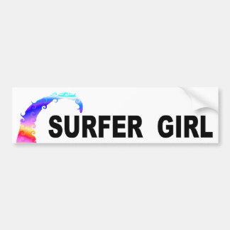 Autocollant De Voiture Fille de surfer