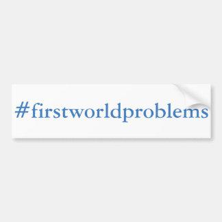 Autocollant De Voiture #firstworldproblems