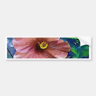 Autocollant De Voiture Fleur artistique de ketmie de rose poussiéreux