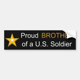 Autocollant De Voiture Frère fier d'une famille de militaires de soldat