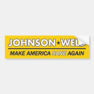 Autocollant De Voiture Gary Johnson/adhésif pour pare-chocs libertaire de