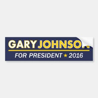 Autocollant De Voiture Gary Johnson pour le président adhésif pour
