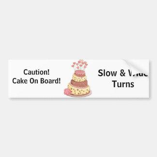 Autocollant De Voiture Gâteau à bord d'adhésif pour pare-chocs