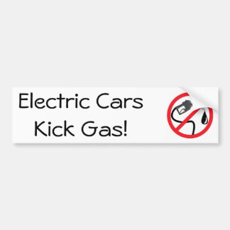 Autocollant De Voiture Gaz de coup-de-pied de voitures électriques