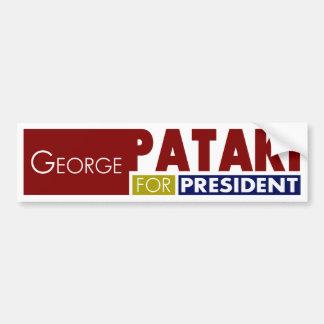 Autocollant De Voiture George Pataki pour le Président V1