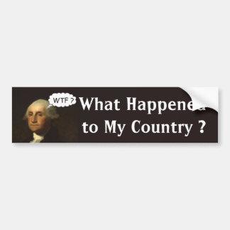 Autocollant De Voiture George Washington tournant dans sa tombe