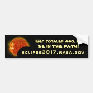 Autocollant De Voiture Get s'est montée dans la grande éclipse américaine