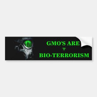AUTOCOLLANT DE VOITURE GMO SONT ADHÉSIF POUR PARE-CHOCS DE BIO-TERRORISME