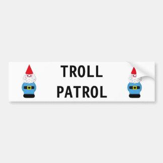 Autocollant De Voiture Gnome de Scandinave de patrouille de Troll