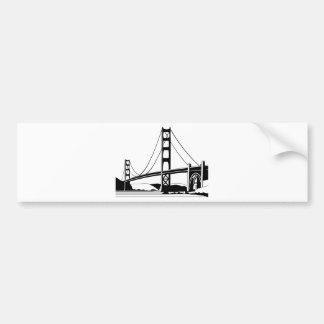 Autocollant De Voiture Golden Gate San Francisco