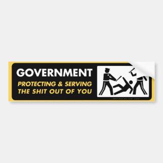 Autocollant De Voiture Gouvernement se protégeant et servant