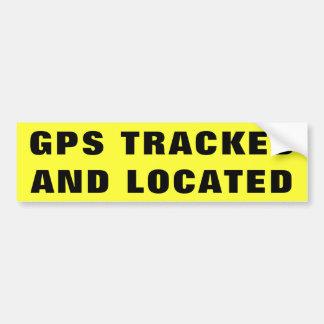 AUTOCOLLANT DE VOITURE GPS A DÉPISTÉ ET A LOCALISÉ 2