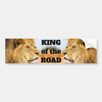 Autocollant De Voiture Grand lion regardant loin