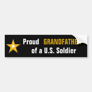 Autocollant De Voiture Grand-père fier d'un soldat des USA