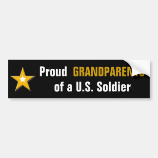 Autocollant De Voiture Grands-parents fiers d'un soldat des USA