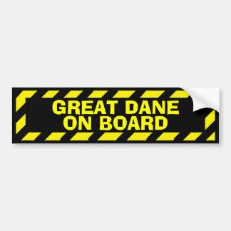Autocollant De Voiture Great dane à bord d'autocollant jaune noir de