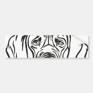 Autocollant De Voiture Great dane font face