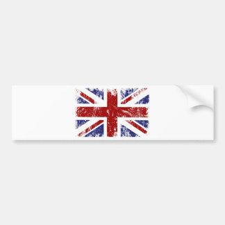 Autocollant De Voiture Grunge britannique de punk d'Union Jack de drapeau