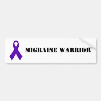 Autocollant De Voiture Guerrier de migraine - adhésif pour pare-chocs