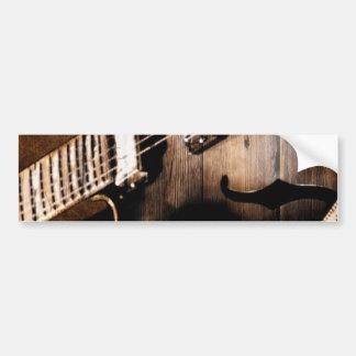 Autocollant De Voiture Guitare occidentale en bois de musique country de