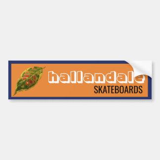 Autocollant De Voiture Hallandale fait de la planche à roulettes