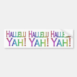 Autocollant De Voiture Hallelu Yah ! (arc-en-ciel)