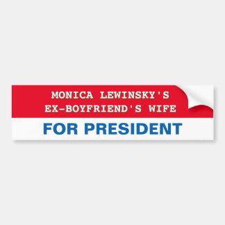 Autocollant De Voiture Hillary Clinton drôle pour le Président adhésif