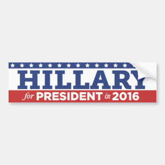Autocollant De Voiture Hillary Clinton pour le président adhésif pour