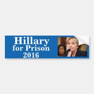 Autocollant De Voiture Hillary pour la prison