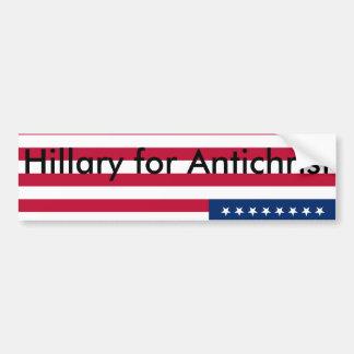 Autocollant De Voiture Hillary pour l'antichriste