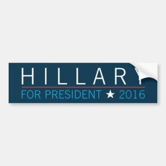 Autocollant De Voiture Hillary pour le président 2016